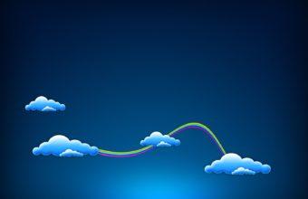 Blue Sky Clouds 1600 x 1200 340x220