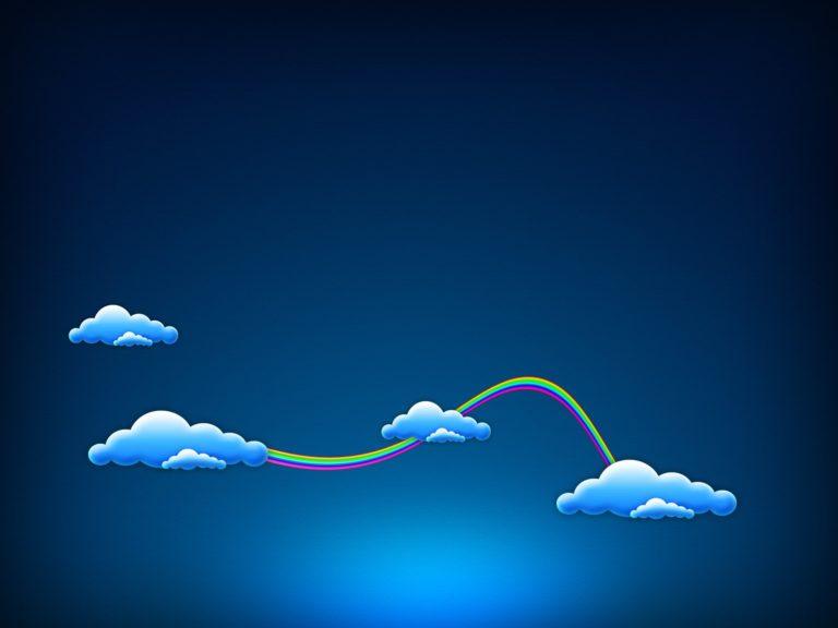 Blue Sky Clouds 1600 x 1200 768x576