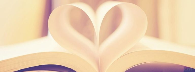 Book Page Love Heart Facebook Cover 851 x 315 768x284