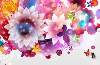 Bright Flower Abstraction 1920 X 1080 340x220