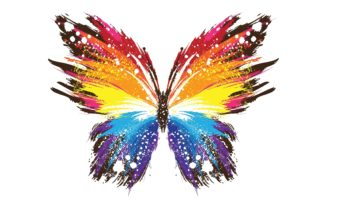 Butterfly Abstract Colorful 5884 X 3941 340x220