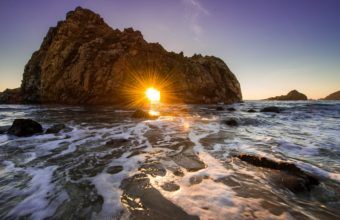 California Ocean Rock Sunset 1229 x 768 340x220