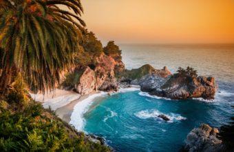 California Pacific Ocean Waterfall 4000 x 2486 340x220