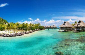 Caribbean Sea Sky Bungalows 2560 x 1440 340x220