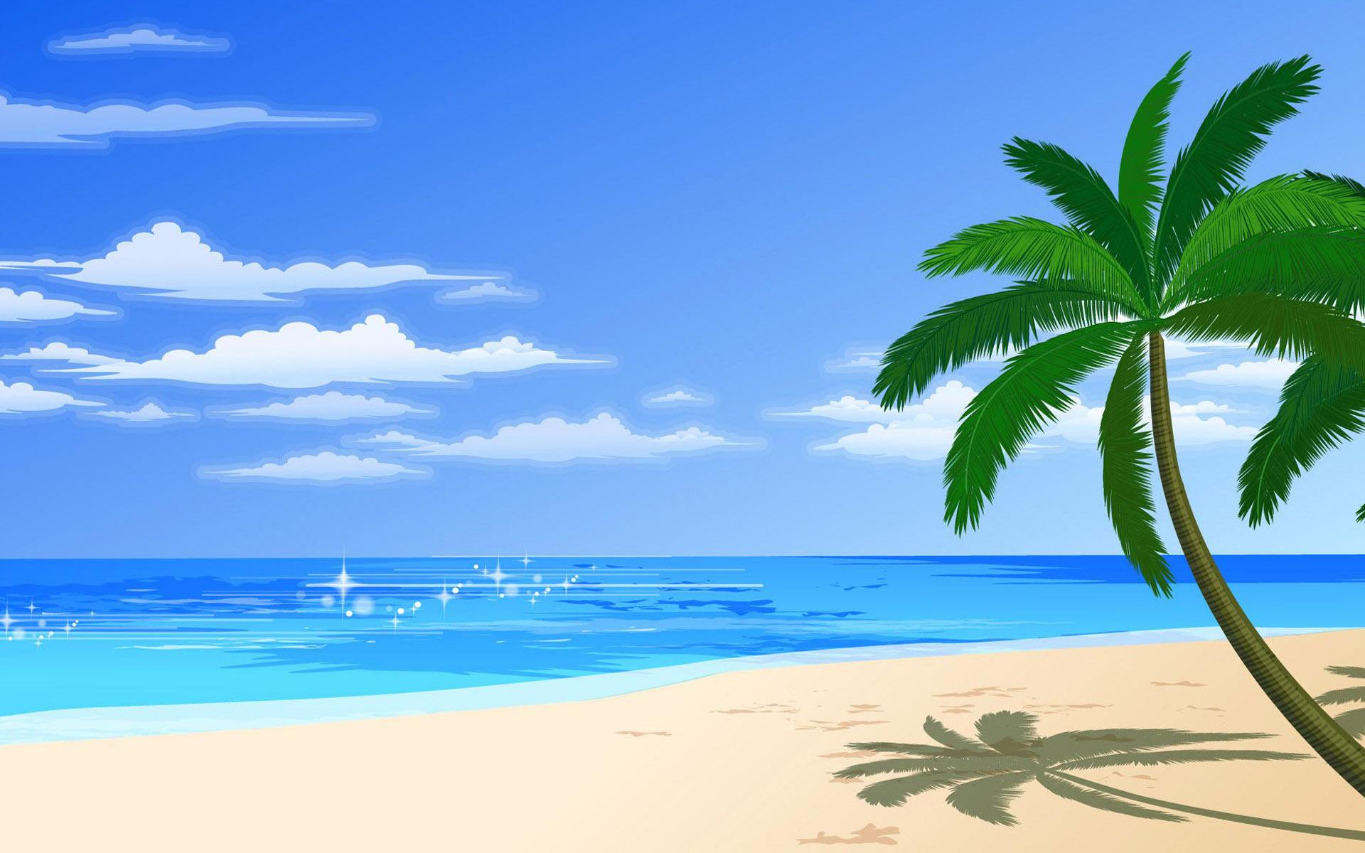 cartoon beach tree  1920 x 1200 palm tree silhouette vector png Simple Palm Tree Silhouette Vector
