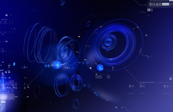 Circles Shape Blue 1920 X 1200 340x220