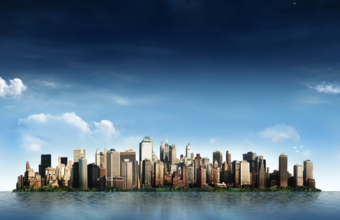City Sky Line Facebook Cover Photo 340x220