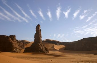 Clouds Landscapes Nature Sand Deserts 1229 x 768 340x220