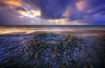 Coast Stones Sea Sky Clouds 2592 x 1734 340x220