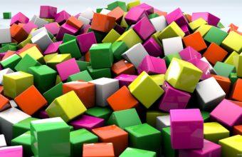Cubes 3d Art 2560 X 1440 340x220