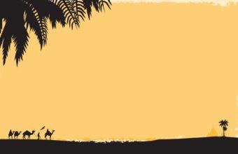 Deserts Silhouettes Egypt Oasis 1920 x 1200 340x220