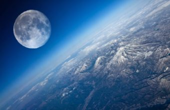 Earth From Space Moon Cosmos Wallpaper 1680x1050 340x220