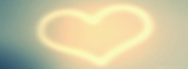 Facebook Cover Plain Heart 1280 x 800 768x284