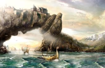 Fantasy Art Vikings Sailing Boats Ships 1920 X 1080 340x220