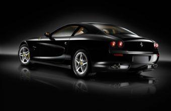 Ferrari Black Side View 1920 x 1080 340x220