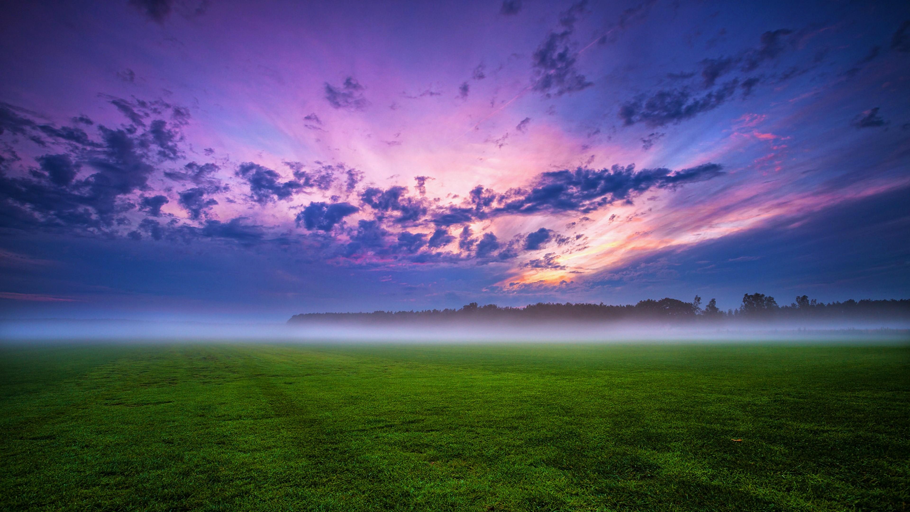 закат лес поле небо облака на телефон