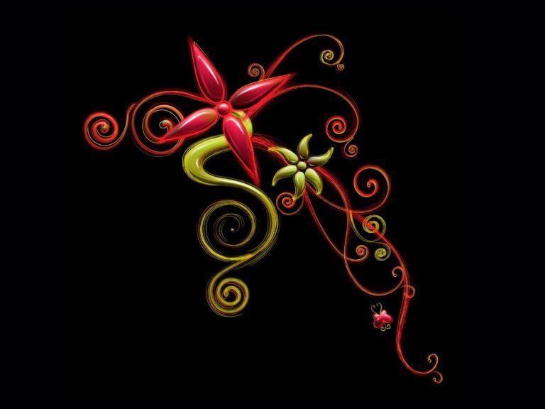 Flower Patterns Background 1600 X 1200 768x576