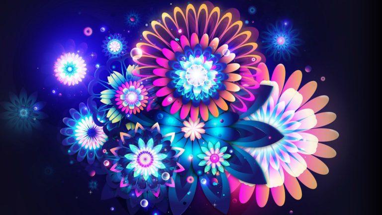Flowers Neon Color 1920 X 1080 768x432
