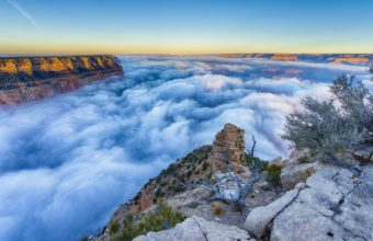 Fog Morning Grand Canyon Arizona 2048 x 1365 340x220