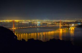 Golden Gate Bridge Night 1920 x 1200 340x220