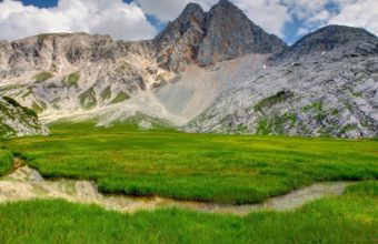 Grass Mountains Rocks 1920 x 1200 340x220
