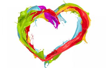 Heart Paint Lines 2880 x 1800 340x220