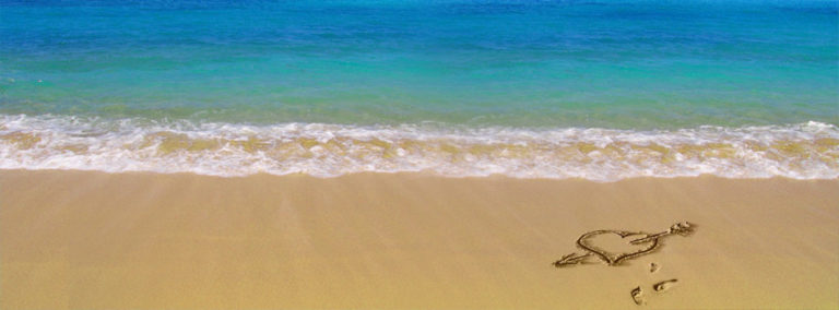 Heart on Beach Facebook Cover Photo 851 x 315 768x284