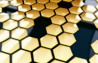 Honeycomb Bees Black 1125 X 900 340x220