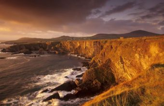 Irish Farms On Seaside Cliffs 1920 x 1080 340x220