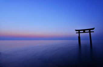 Japan The Arch Night Sunset Horizon Sea 2560 x 1700 340x220