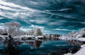 Lake Winter Trees 1200 x 900 340x220
