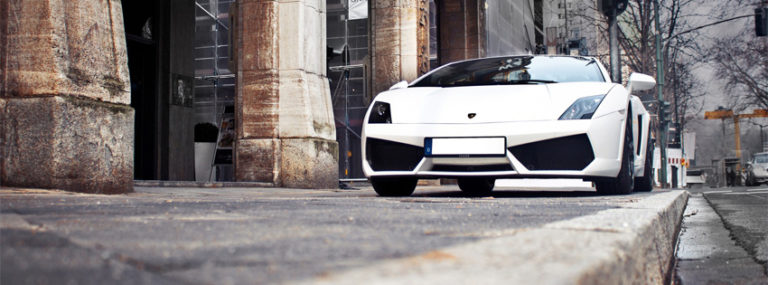 Lamborghini White Car Facebook Cover Photo 850 x 315 768x285