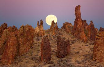 Landscapes Desert Moon 1920 x 1080 340x220