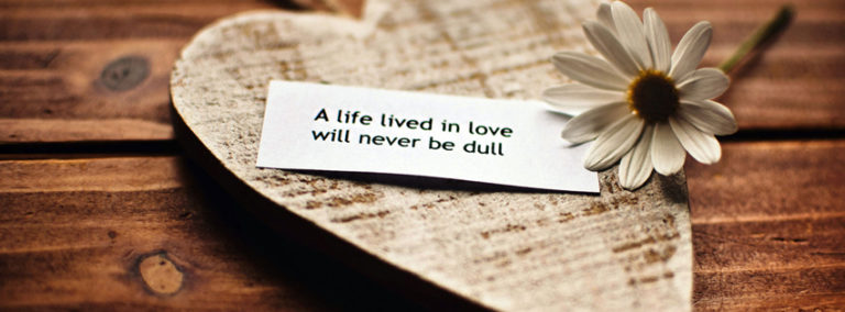 Life with Love Quote FB Cover Image 851 x 315 768x284