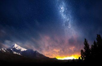 Light Stars Sky 1680 x 1050 340x220