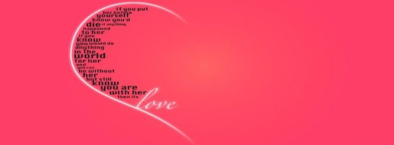 Love Heart Facebook Cover 851 x 315 768x284
