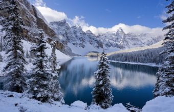 Moraine Lake In Winter Canada 1920 x 1200 340x220