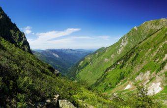 Mountains Grass 2560 x 1440 340x220