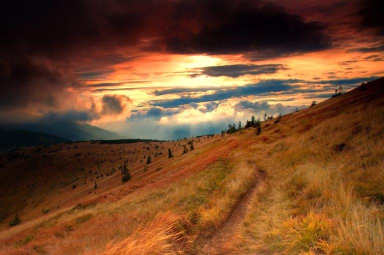 Mountains Hills Autumn Sunset Trail 3681 X 2445 768x510