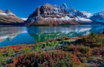 Mountains Snow Grass 1680 x 1050 340x220