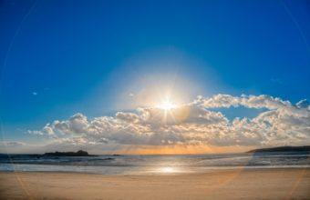 Nature Beaches Ocean Sea Sky Clouds 1920 x 1280 340x220