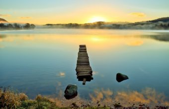 Nature Lakes Water Reflection Shine 1920 x 1200 340x220