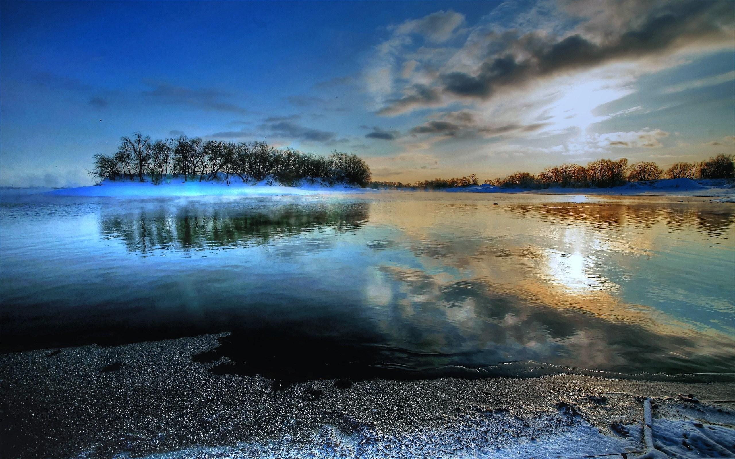 природа озеро отражение небо облака  № 1248339  скачать