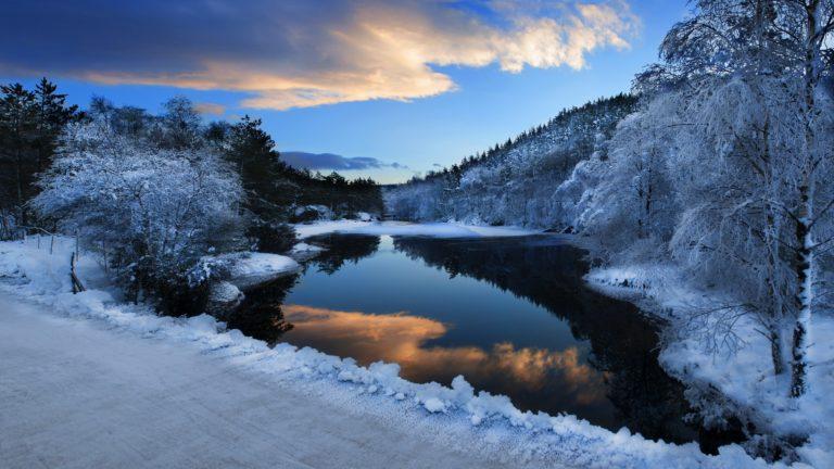 Nature Landscapes Winter Snow Rivers 2560 x 1440 768x432