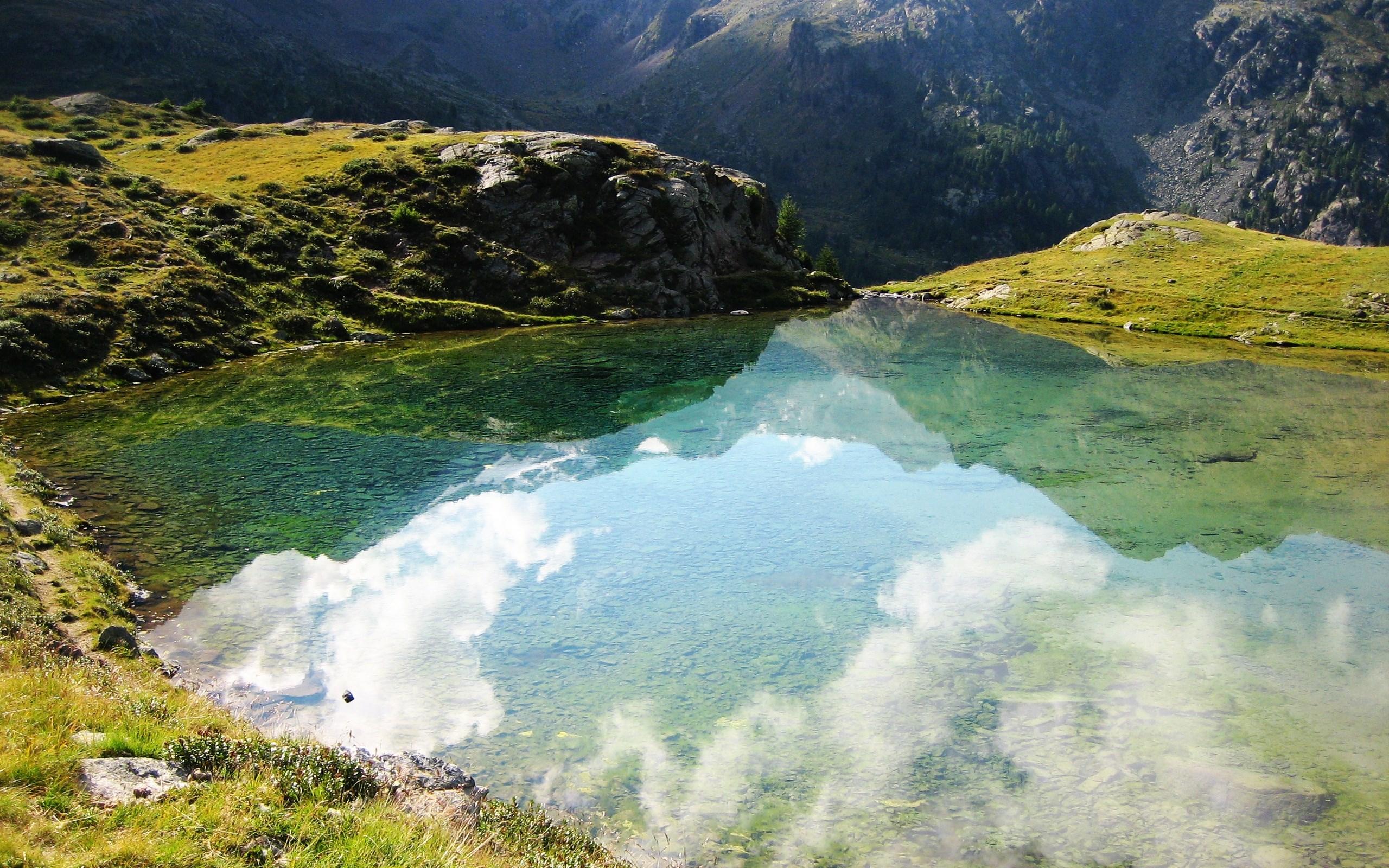 Горы зелень вода  № 657927 без смс