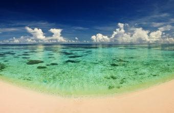 Ocean Sand Water Heat Beach 1920 x 1080 340x220