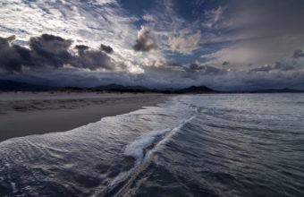 Ocean Sea Beaches Waves Sky Clouds 1920 x 1200 340x220
