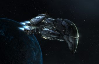 Outer Space Planets Spaceships 5760 x 1200 340x220