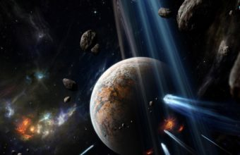Outer Space Stars Planets Earth 1920 x 1080 340x220