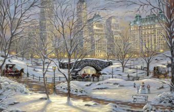 Painting Winter Snow 1440 x 900 340x220